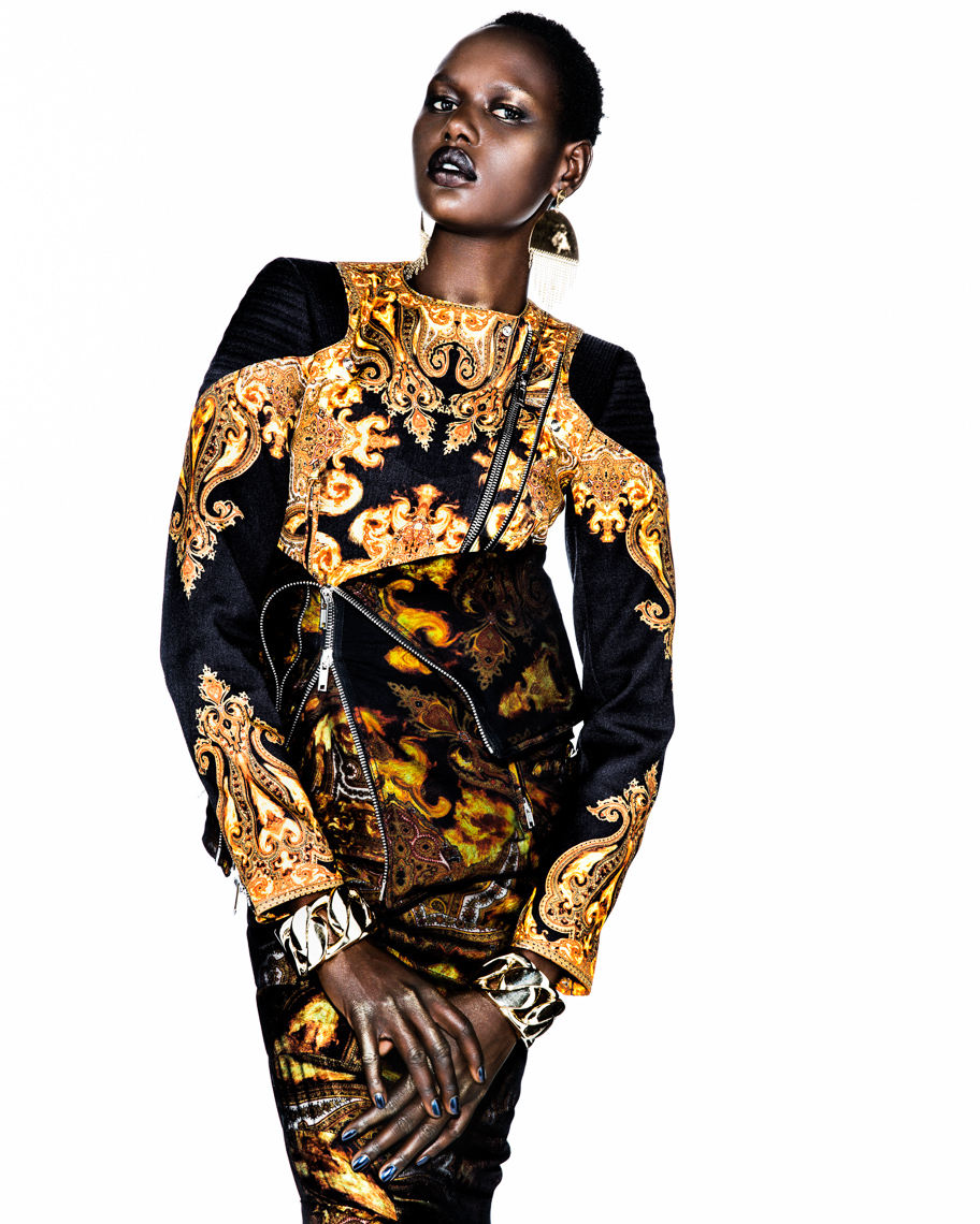 Vogue 90s with Ajak Deng by Marc de Groot