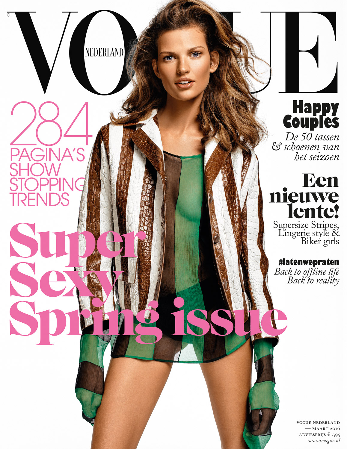 Bette Franke for VogueNL March 2016 Cover by Marc de Groot