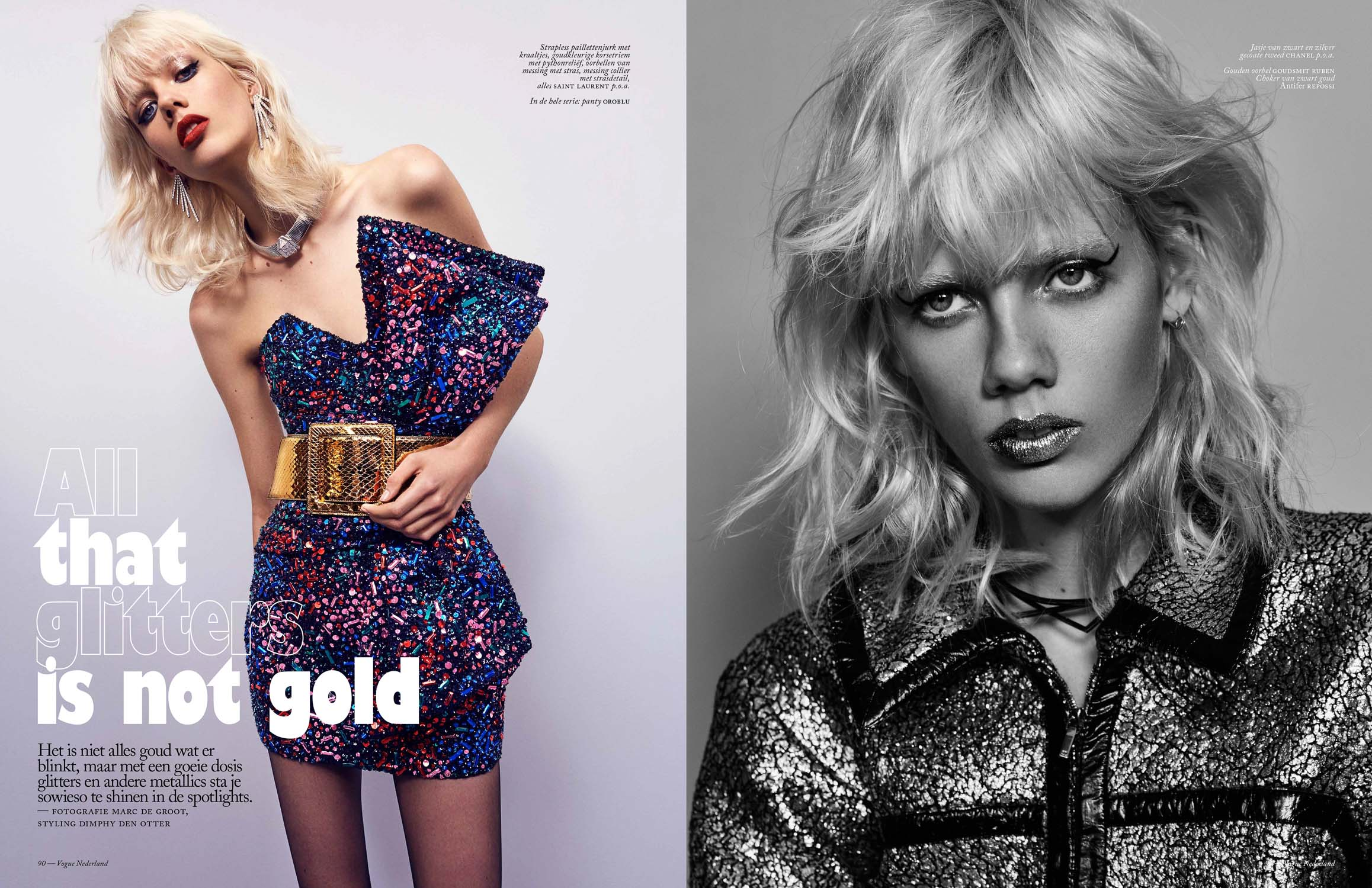 Marjan Jonkman for VogueNL by Marc de Groot