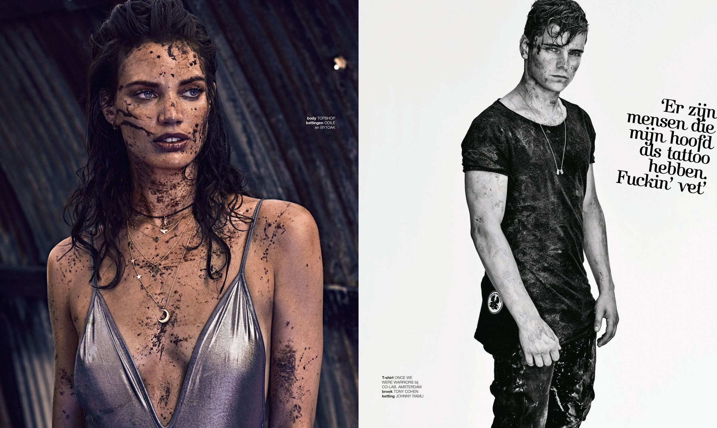Rianne ten Haken and Martin Garrix for LINDA.MEIDEN by Marc de Groot