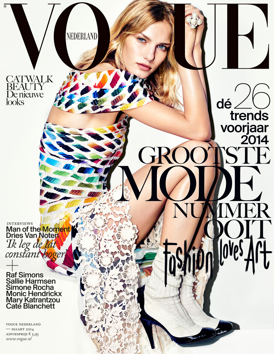 March Vogue cover Marique Schimmel by Marc de Groot